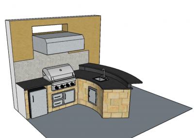 Lakewood Ranch Outdoor Kitchen CAD Plans